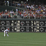 Lonely In Center Field Print by Dave Hall