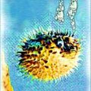 Long-spine Fish Print by Daniel Janda