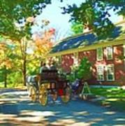 Longfellows Wayside Inn Print by Barbara McDevitt