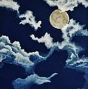 Look At The Moon Print by Katherine Young-Beck