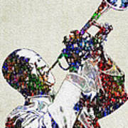 Louie Armstrong 2 Print by Jack Zulli