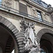 Louvre - Paris France - 011331 Print by DC Photographer