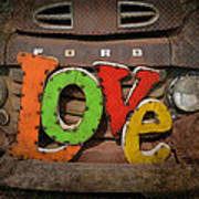 Love And A Ford Truck Print by Carla Parris