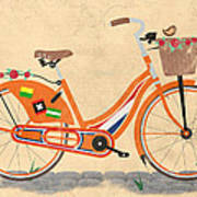 Love Holland Love Bike Print by Andy Scullion