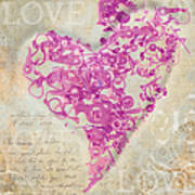 Love Is A Gift Print by Fran Riley