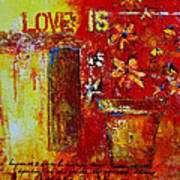 Love Is Abstract Print by Patricia Awapara