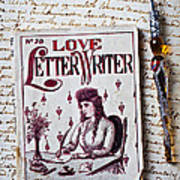 Love Letter Writer Book Print by Garry Gay
