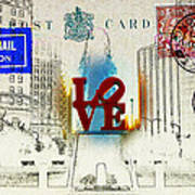 Love Park Post Card Print by Bill Cannon