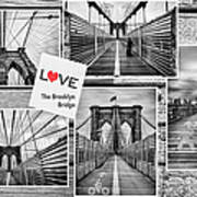 Love The Brooklyn Bridge Print by John Farnan