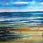 Low Tide Wells Beach Maine Print by Scott Nelson