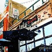 Lulu Asian Bistro Print by Tom Riggs