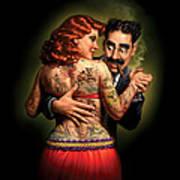 Lydia The Tattooed Lady Print by Mark Fredrickson