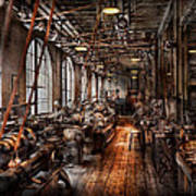 Machinist - A Fully Functioning Machine Shop  Print by Mike Savad