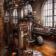 Machinist - Industrial Drill Press  Print by Mike Savad