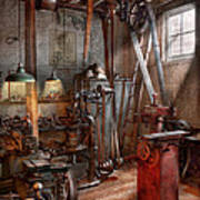 Machinist - The Modern Workshop  Print by Mike Savad