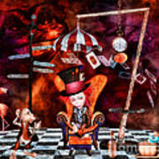 Madness In The Hatter's Realm Print by Putterhug  Studio