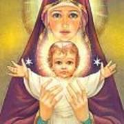 Madonna And Baby Jesus Print by Zorina Baldescu
