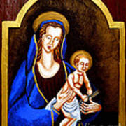 Madonna And Child Print by Genevieve Esson