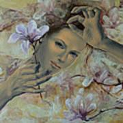 Magnolias Print by Dorina  Costras