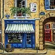 Maison De Vin Print by Marilyn Dunlap