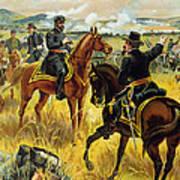 Major General George Meade At The Battle Of Gettysburg Print by Henry Alexander Ogden