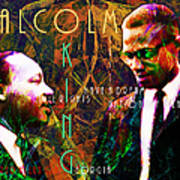 Malcolm And The King 20140205 With Text Print by Wingsdomain Art and Photography