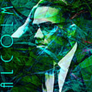 Malcolm X 20140105p138 With Text Print by Wingsdomain Art and Photography