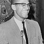 Malcolm X Print by Ed Ford