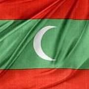 Maldives Flag Print by Les Cunliffe