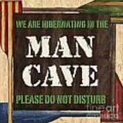 Man Cave Do Not Disturb Print by Debbie DeWitt