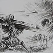 Man Of Sorrows Print by Rachel Christine Nowicki