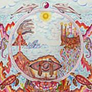 Mandala Atlanits Print by Lida Bruinen