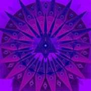 Mandala For Ca Symptoms Print by Sarah  Niebank