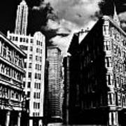 Manhattan Highlights B W Print by Benjamin Yeager