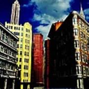 Manhattan Highlights Print by Benjamin Yeager