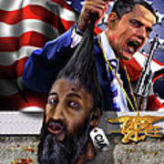 Manifestation Of Frustration - I Am Commander In Chief - Period - On My Watch - Me And My Boys 1-2 Print by Reggie Duffie