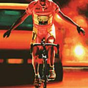 Marco Pantani Print by Paul Meijering