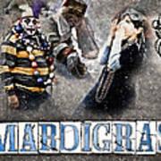 Mardi Gras Artwork Print by Ray Devlin