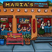 Maria's New Mexican Restaurant Print by Victoria De Almeida