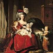 Marie Antoinette And Her Children Print by Elisabeth Louise Vigee-Lebrun