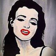 Marilyn Monroe Aka Norma Jean Artistic Impression Print by Saundra Myles