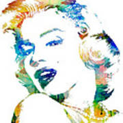 Marilyn Monroe Print by Mike Maher