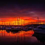 Marina Sunset Print by Dawn OConnor