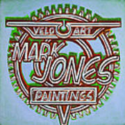 Mark Jones Velo Art Painting Blue Print by Mark Howard Jones