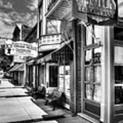 Mark Twain's Town Bw Print by Mel Steinhauer