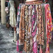 Market Scarves Print by Brenda Bryant