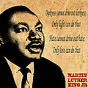 Martin Luther King Jr 1 Print by Andrew Fare