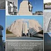 Martin Luther King Jr Memorial Collage 1 Print by Allen Beatty