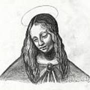 Mary After Davinci Print by Genevieve Esson