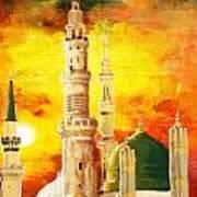 Masjid E Nabwi Print by Catf